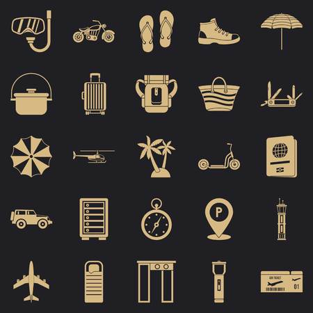 Tour guide icons set. Simple set of 25 tour guide vector icons for web for any design