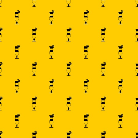 Cocktail pattern seamless vector repeat geometric yellow for any design