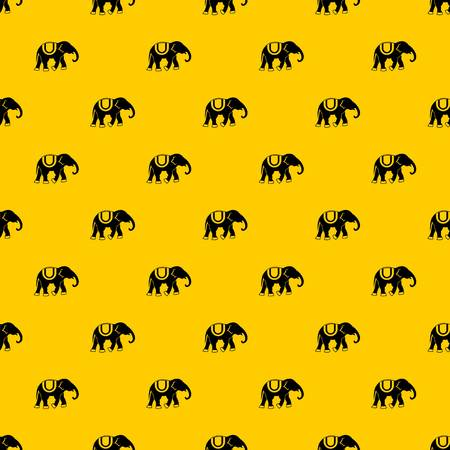 Elephant pattern seamless vector repeat geometric yellow for any design Иллюстрация