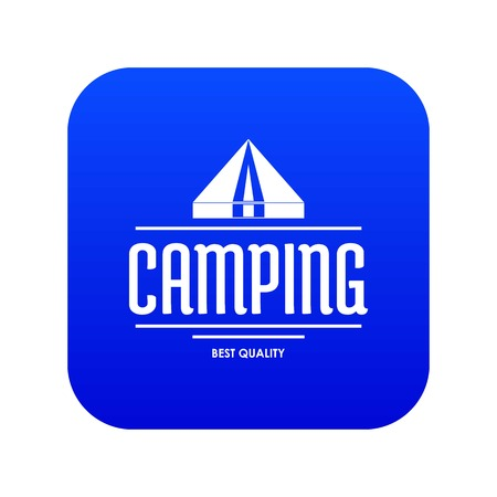 Best camping icon blue vector