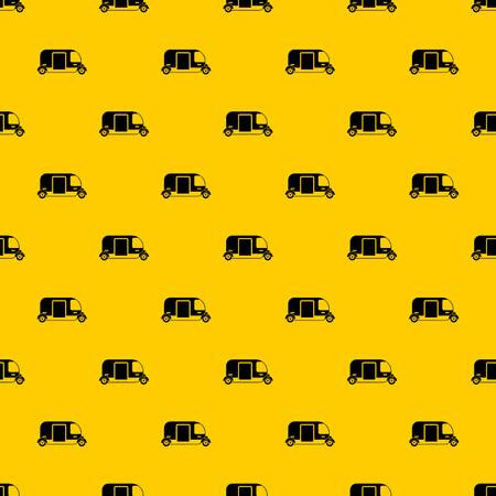 Thailand three wheel native taxi pattern seamless vector repeat geometric yellow for any design