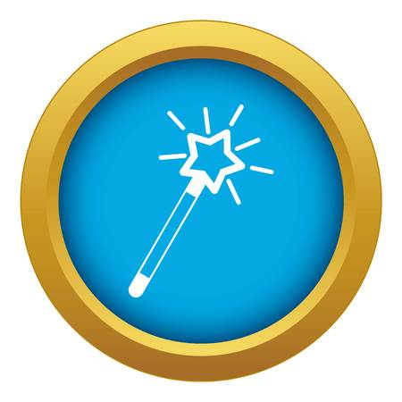 Magic wand icon blue vector isolated on white background for any design Иллюстрация