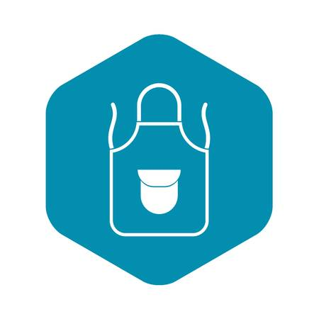 Apron with pocket icon. Simple illustration of apron with pocket vector icon for web 일러스트