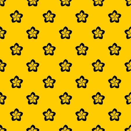 Frangipani flower pattern seamless vector repeat geometric yellow for any design Illustration