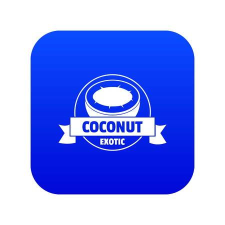 Coconut icon blue vector