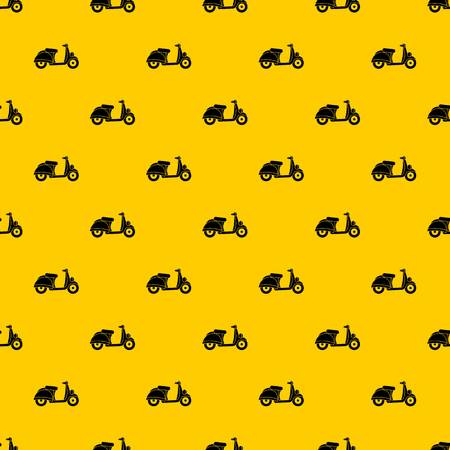 Motorbike pattern seamless vector repeat geometric yellow for any design