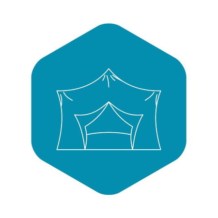 Hiking pavilion icon. Outline illustration of hiking pavilion vector icon for web