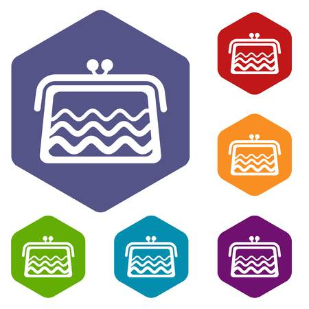 Wallet icons vector hexahedron Illustration