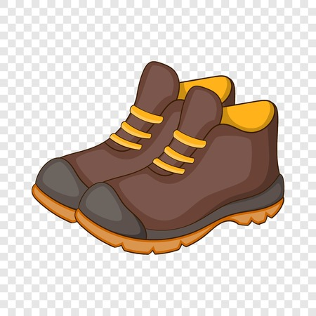 Hiking boots icon. Cartoon illustration of hiking boot vector icon for web design