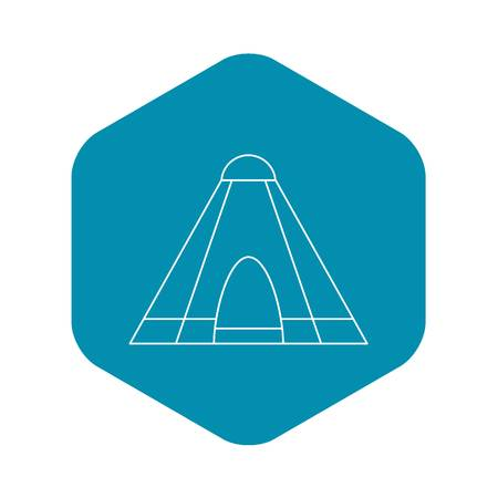 Tepee tent icon. Outline illustration of tepee tent vector icon for web Illustration