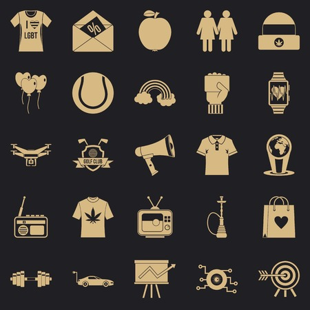 T shirt icons set. Simple set of 25 t shirt vector icons for web for any design