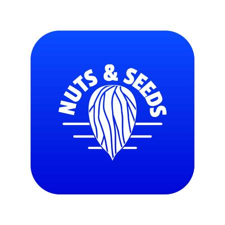 Nut and seed company icon blue vector