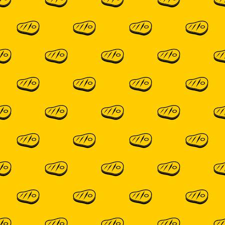 Meat steak pattern seamless vector repeat geometric yellow for any design Ilustrace