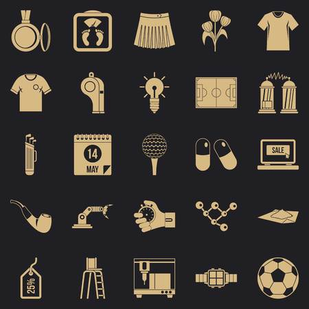 Shirt icons set, simple style