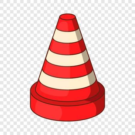 Traffic cone icon. Cartoon illustration of traffic cone vector icon for web design