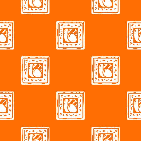 Sushi traditional pattern vector orange for any web design best