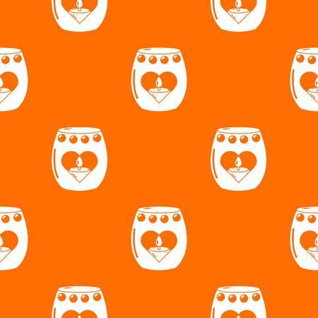 Candle passion pattern vector orange for any web design best Ilustração