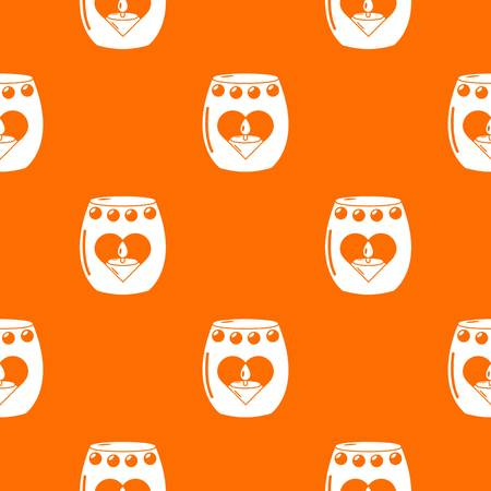 Candle passion pattern vector orange for any web design best Illustration