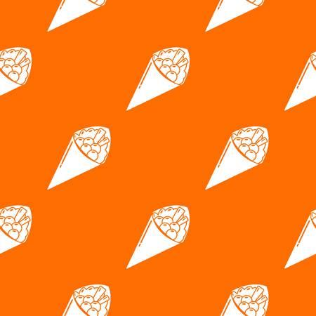 Sushi food pattern vector orange for any web design best