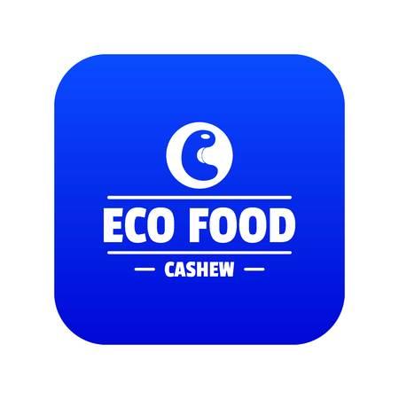 Cashew icon blue vector