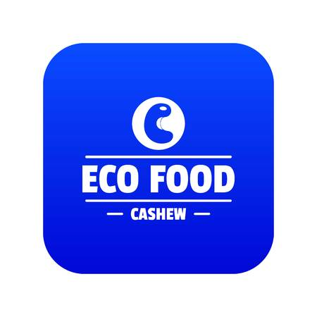 Cashew icon blue vector