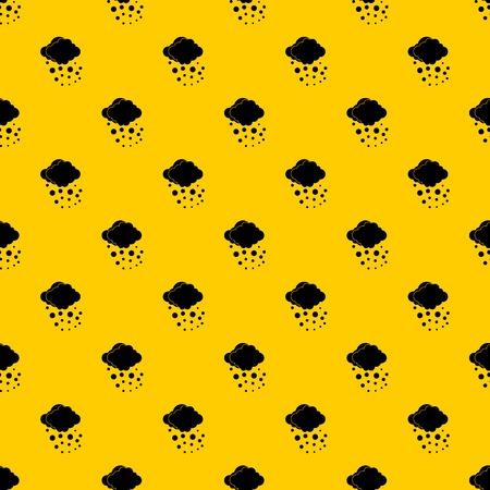 Cloud with hail pattern seamless vector repeat geometric yellow for any design
