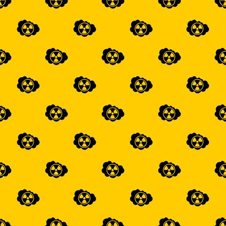 Cloud and radioactive sign pattern seamless vector repeat geometric yellow for any design
