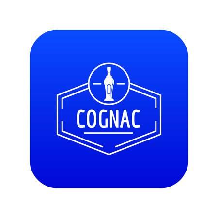 Cognac icon blue vector