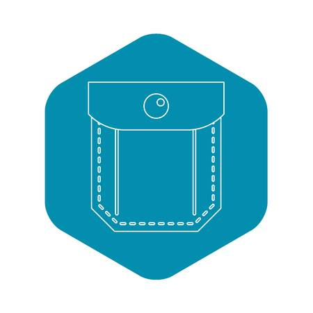 Jeans pocket icon. Outline illustration of jeans pocket vector icon for web Vettoriali