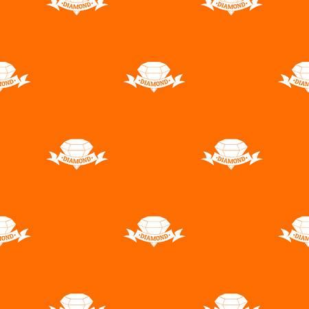 Diamond pattern vector orange Illustration