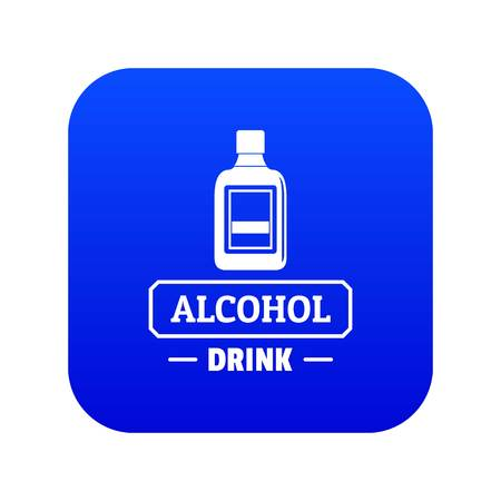 Quality alcohol icon blue vector Illustration