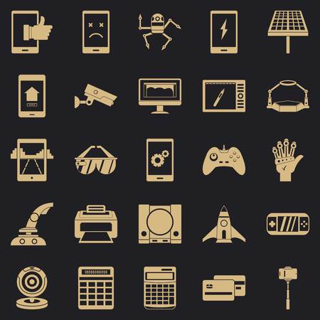 Installation icons set. Simple set of 25 installation vector icons for web for any design Illustration