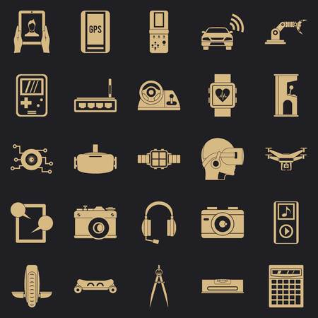 Setting icons set. Simple set of 25 setting vector icons for web for any design Ilustração