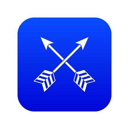 Arrows LGBT icon digital blue Stock Illustratie