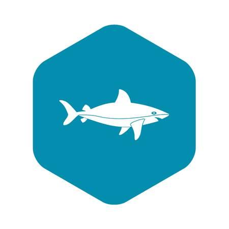 Shark fish icon. Simple illustration of shark fish vector icon for web