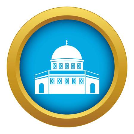 Dome of the Rock on the Temple Mount icon blue vector isolated Illustration