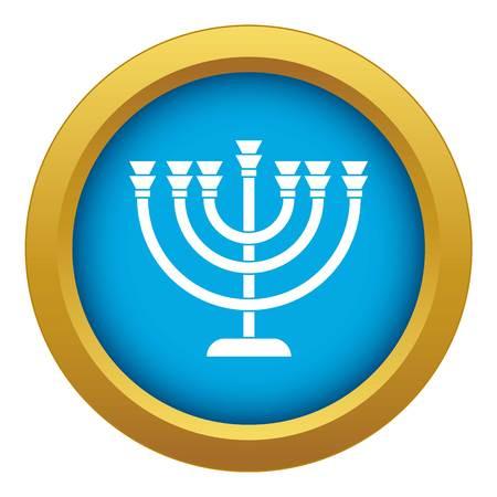 Menorah icon blue vector isolated Ilustracja