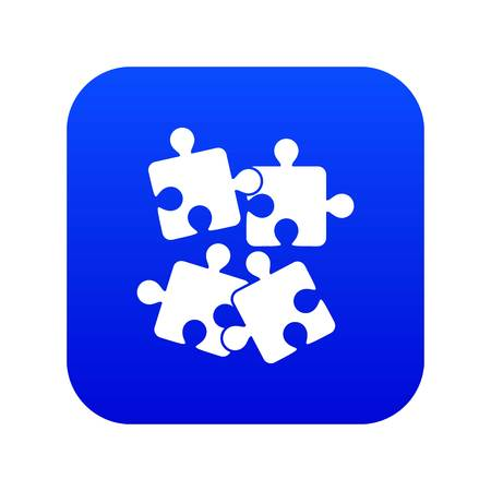 Jigsaw puzzles icon digital blue for any design isolated on white vector illustration