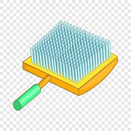 Dog brush icon, cartoon style