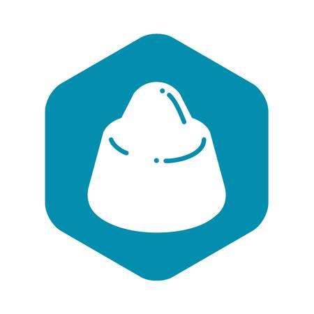 Chocolate truffle icon. Simple illustration of chocolate truffle vector icon for web design isolated on white background