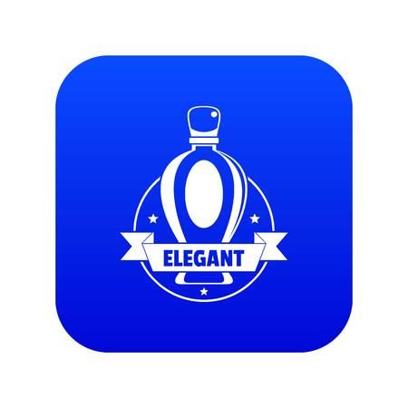 Elegant perfume icon blue vector