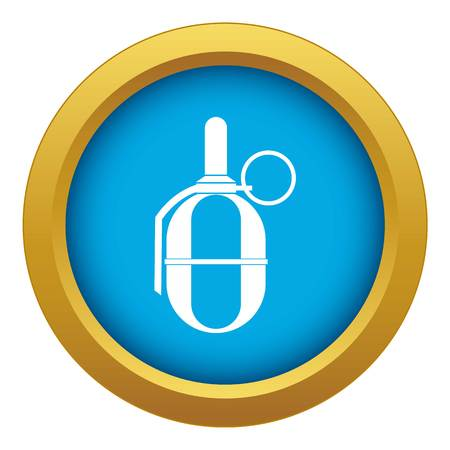 Hand paintball grenade icon blue vector isolated on white background for any design Stock Illustratie