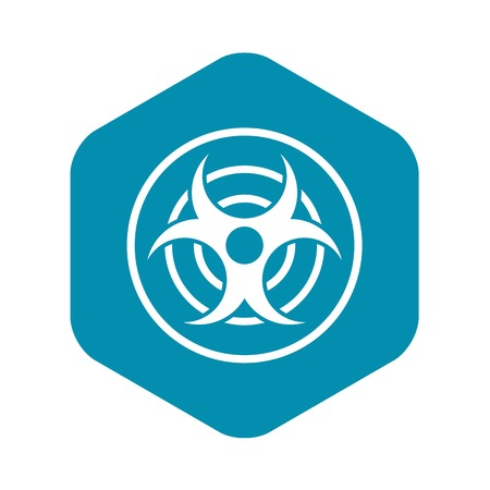 Sign of biological threat icon. Simple illustration of sign of biological threat vector icon for web Ilustrace