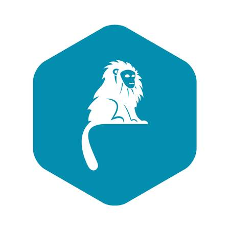 Hairy monkey icon. Simple illustration of hairy monkey vector icon for web Banque d'images - 130239866