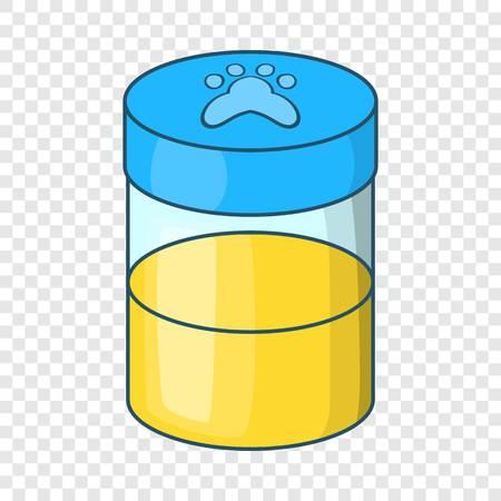 Pets urine sample icon. Cartoon illustration of pets urine sample vector icon for web Illustration