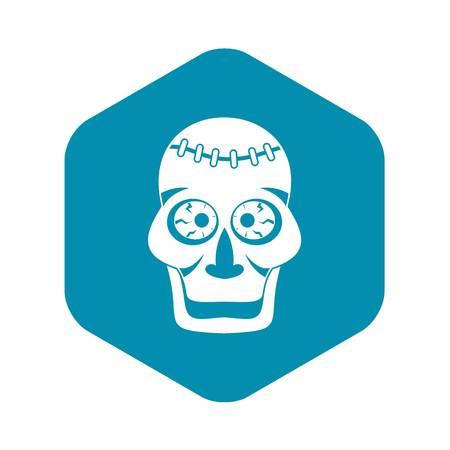Skull icon. Simple illustration of skull vector icon for web Иллюстрация