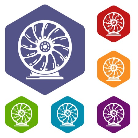 Perpetuum mobile icons vector hexahedron