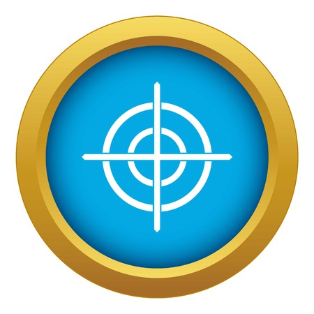 Target crosshair icon blue vector isolated on white background for any design 矢量图像