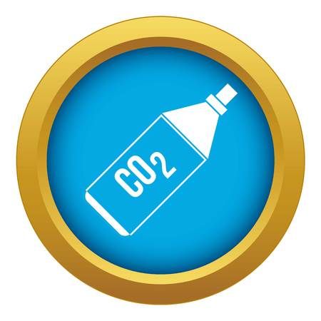 CO2 bottle icon blue vector isolated on white background for any design