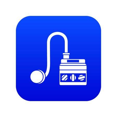 Detonator icon digital blue for any design isolated on white vector illustration